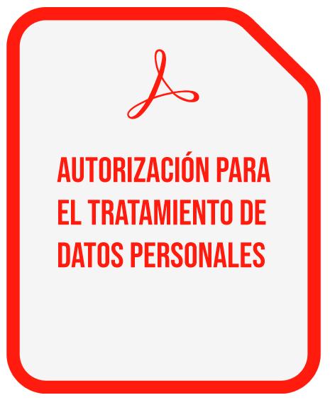 AUTORIZACION PARA EL TRATAMIENTO DE DATOS PERSONALES