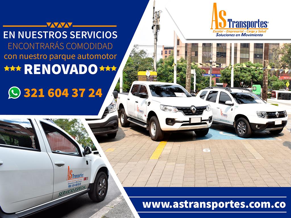 En nuestro servicio encontrarás comodidad con nuestro parque automotor renovado.