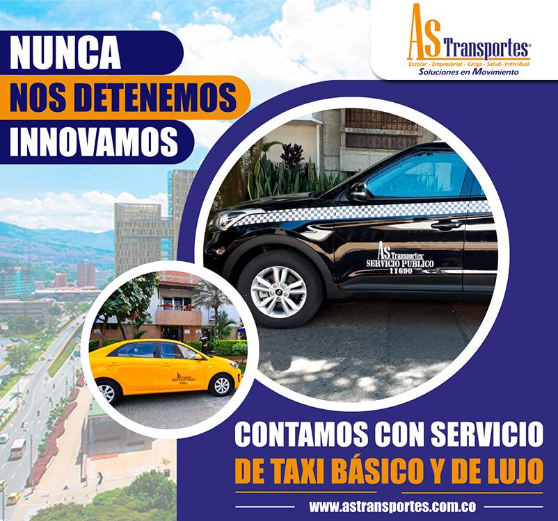Nunca nos detenemos innovamos, contamos con el servicio de taxi básico y de lujo