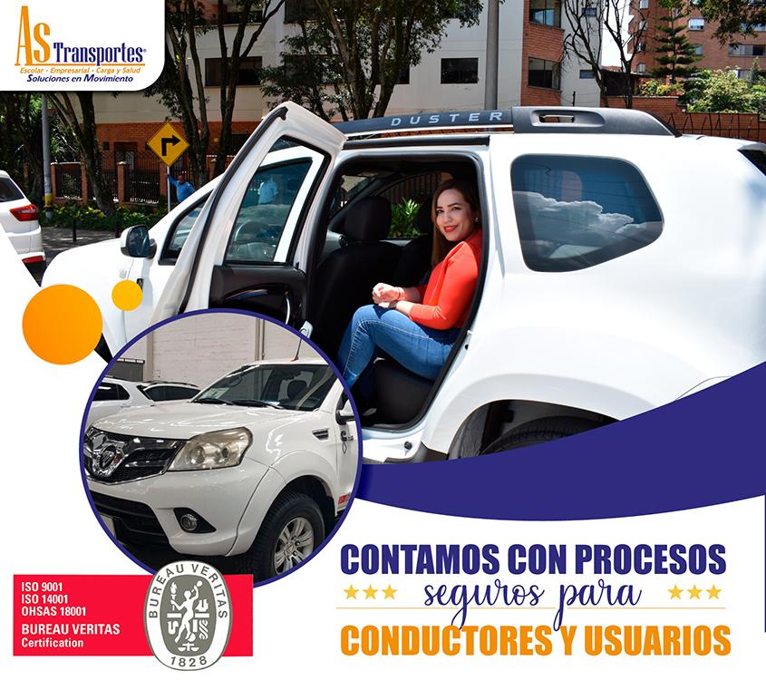 Contamos con procesos seguros para conductores y usuarios