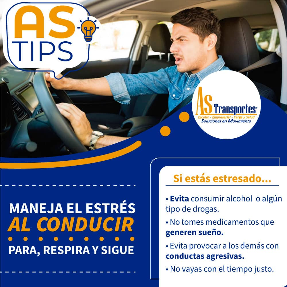 7- Maneja el estrés al conducir, para respira y sigue