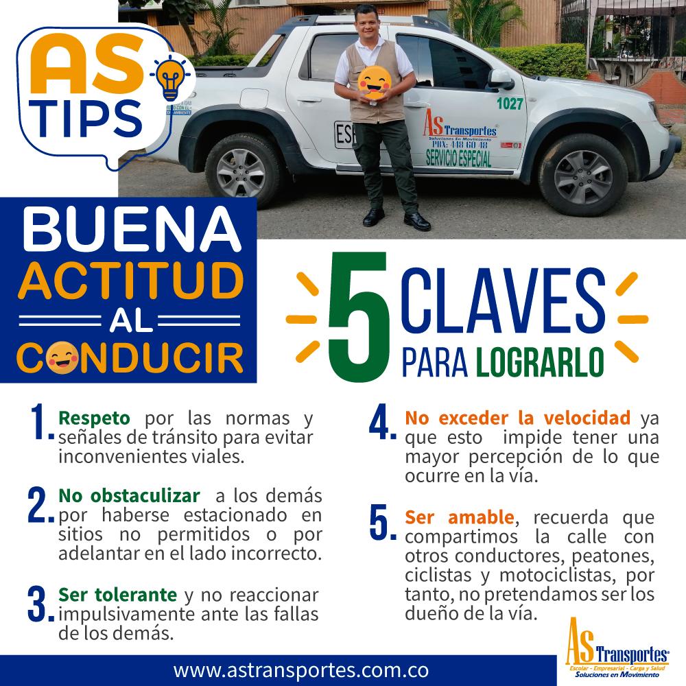8- Buena actitud al conducir – 5 Claves para lograrlo